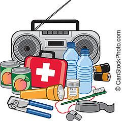 Equipo de preparación de supervivencia de emergencia