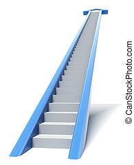 Escalera de flecha azul