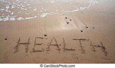Escritura de arena, salud
