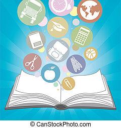 Escuela de libros e iconos