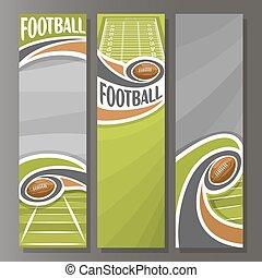 Estandartes verticales para el fútbol americano