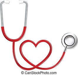 Estetoscopio en forma de corazón