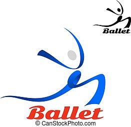 Estilizado como icono de ballet de una bailarina