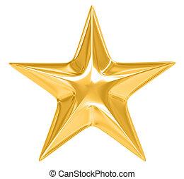 Estrella de oro en blanco