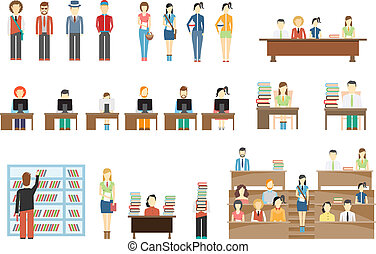 Estudiantes en la universidad