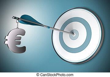 Euro concepto, asesor financiero o asesor financiero