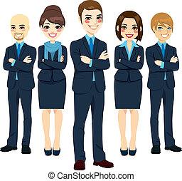 exitoso, equipo negocio