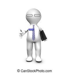 Experto consultor estirando la mano para un apretón de manos