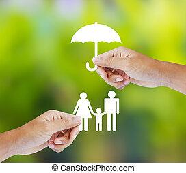 Familia, concepto de seguro
