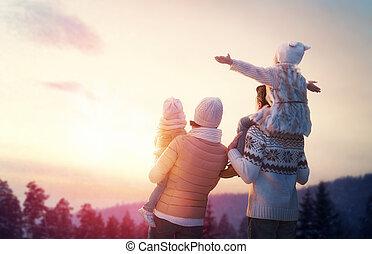 Familia e invierno