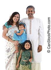 Familia tradicional india