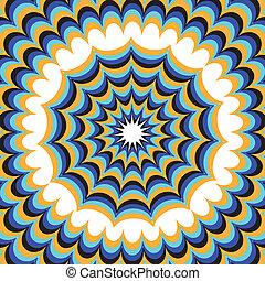 Fantasía azul (Ilusión de movimiento)