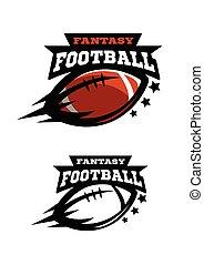 Fantsy del fútbol americano. Dos opciones de logotipo.