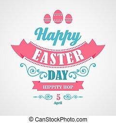 Feliz fondo tipográfico de Easter