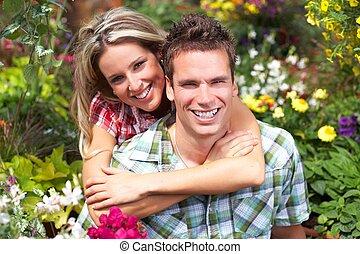 Feliz pareja amorosa.