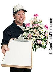 Firma para la entrega de flores