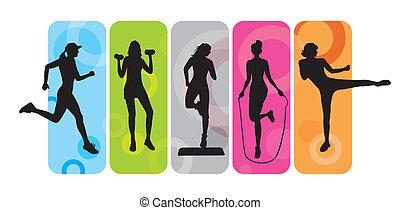 Fitness siluetas