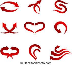 flecha, iconos