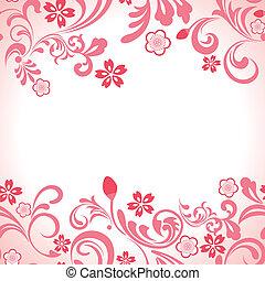 Flor de cerezo rosa inmaculado