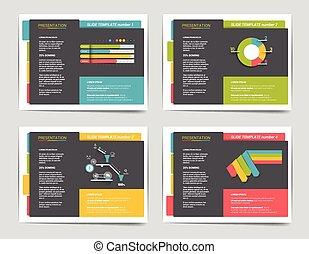 folleto, diapositiva, empresa / negocio, templates., libro, folleto, sitio web, revista, cartel, presentación, print., infographics, 4