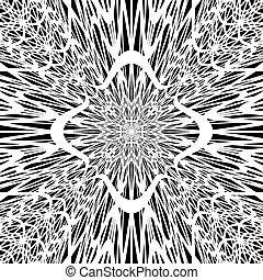 Fondo de explosión del embudo de Monocromo abstracto en O