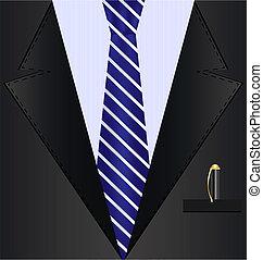 fondo negro, traje