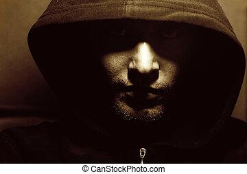 Foto de un monje misterioso