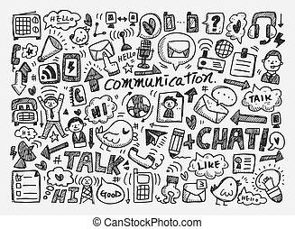 garabato, plano de fondo, comunicación