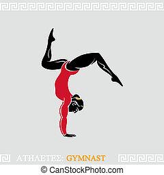 gimnasta, atleta