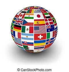 Globos banderas internacionales