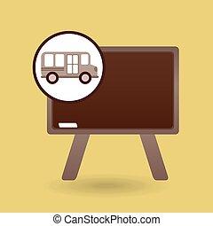 Gráfico de la pizarra del autobús escolar