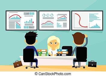 gráfico, gente, finanzas, tendencia, comerciantes, empresa / negocio, financiero, abajo, crisis, computadoras, oficina, otoño, negativo, escritorio