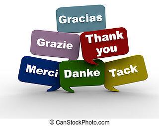 Gracias en diferentes idiomas