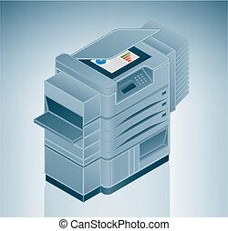Gran foto impresora / fotocopiadora