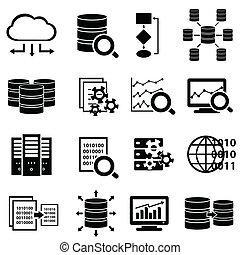 Grandes datos y iconos tecnológicos