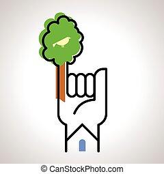 Guarda el concepto de árbol