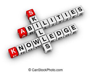 habilidades, conocimiento, habilidades