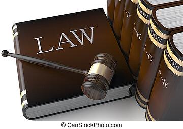 Hay un montón de libros de leyes de cuero