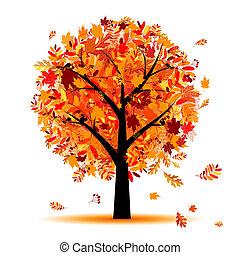Hermoso árbol de otoño para tu diseño