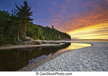 Hermoso paisaje de Michigan.