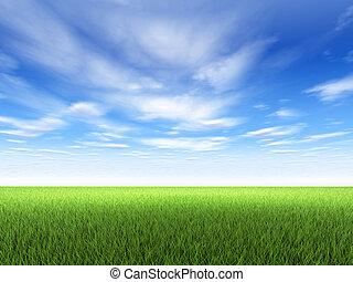 Hierba y cielo