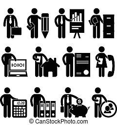 hombre de negocios, programador, trabajo, abogado