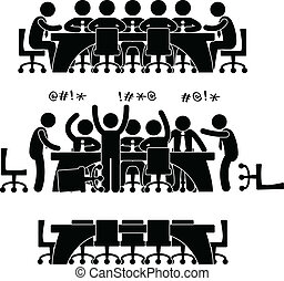 icono de discusión de negocios