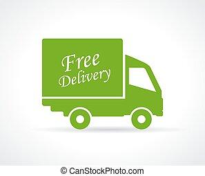 Icono de entrega gratis