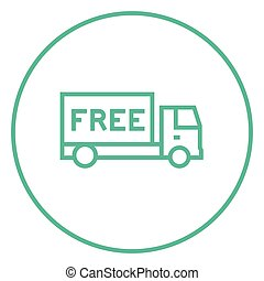 Icono de entrega gratis.
