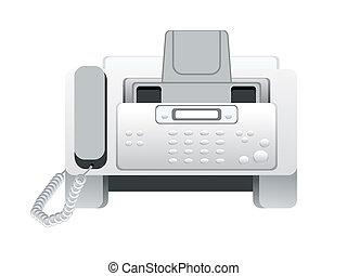 icono de fax abstracto