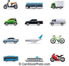 iconos de color, transporte