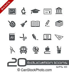 iconos de educación / bases