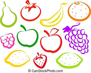iconos de fruta