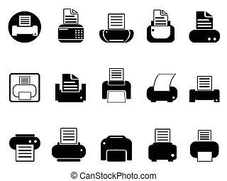 iconos impresos